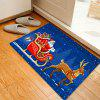 Christmas Deer Sleigh Santa Pattern Water Absorption Area Rug - COLORMIX