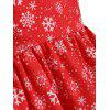 Christmas Snowflake Sweetheart Plus Size Dress - RED