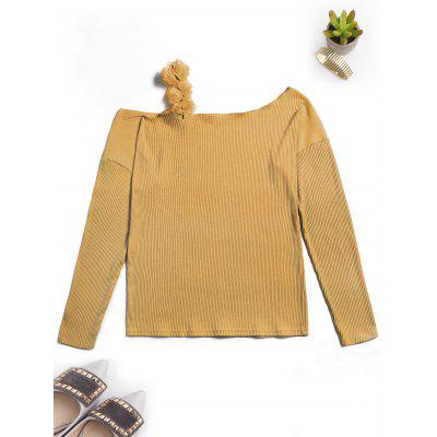 Ribbed Off The Shoulder KnitwearSweaters &amp; Cardigans<br>Ribbed Off The Shoulder Knitwear<br><br>Collar: Off The Shoulder<br>Material: Polyester, Spandex<br>Package Contents: 1 x Knitwear<br>Sleeve Length: Full<br>Style: Casual<br>Type: Pullovers<br>Weight: 0.4000kg