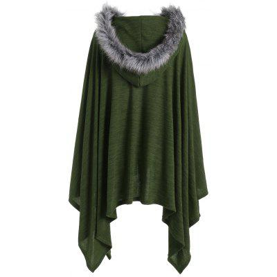 Asymmetric Faux Fur Panel Plus Size Cape CoatPlus Size Tops<br>Asymmetric Faux Fur Panel Plus Size Cape Coat<br><br>Clothes Type: Others<br>Collar: Hooded<br>Material: Spandex, Polyester<br>Package Contents: 1 x Coat<br>Pattern Type: Solid<br>Season: Fall, Winter<br>Shirt Length: Regular<br>Sleeve Length: Full<br>Style: Fashion<br>Type: Wide-waisted<br>Weight: 0.4700kg