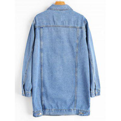 Button Up Buttoned Tads Hem Denim CoatJackets &amp; Coats<br>Button Up Buttoned Tads Hem Denim Coat<br><br>Collar: Shirt Collar<br>Material: Cotton, Jeans, Polyester<br>Package Contents: 1 x Coat<br>Pattern Type: Others<br>Shirt Length: Long<br>Sleeve Length: Full<br>Style: Fashion<br>Type: Wide-waisted<br>Weight: 1.0200kg