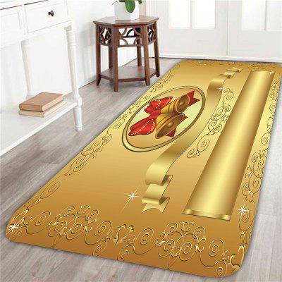 Buy GOLDEN Golden Christmas Bell Pattern Skidproof Rug for $14.60 in GearBest store