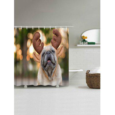 Christmas Dog Print Waterproof Shower CurtainShower Curtain<br>Christmas Dog Print Waterproof Shower Curtain<br><br>Materials: Polyester<br>Number of Hook Holes: W59 inch*L71 inch: 10; W71 inch*L71 inch: 12; W71 inch*L79 inch: 12<br>Package Contents: 1 x Shower Curtain 1 x Hooks (Set)<br>Pattern: Animal<br>Products Type: Shower Curtains<br>Style: Festival