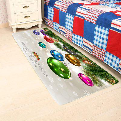 Colorful Christmas Ball Printed Skidproof RugBlankets&amp; Throws<br>Colorful Christmas Ball Printed Skidproof Rug<br><br>Materials: Coral FLeece<br>Package Contents: 1 x Rug<br>Pattern: Ball<br>Products Type: Shower Curtains<br>Shape: Rectangle<br>Style: Festival