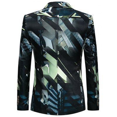 Single Breasted Flap Pockets Geometric BlazerMens Blazers<br>Single Breasted Flap Pockets Geometric Blazer<br><br>Closure Type: Single Breasted<br>Material: Polyester<br>Package Contents: 1 x Blazer<br>Shirt Length: Regular<br>Sleeve Length: Long Sleeves<br>Weight: 0.6800kg