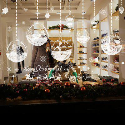 Buy Christmas Baubles Village Pattern Wall Stickers For Living Room, WHITE, Home & Garden, Home Decors, Wall Art, Wall Stickers for $4.91 in GearBest store