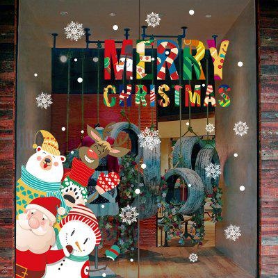 Buy Merry Christmas Aniamls Pattern Wall Art Stickers For Bedroom, COLORMIX, Home & Garden, Home Decors, Wall Art, Wall Stickers for $7.86 in GearBest store