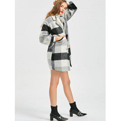 Checked Wool Blend Pea CoatJackets &amp; Coats<br>Checked Wool Blend Pea Coat<br><br>Closure Type: Double Breasted<br>Clothes Type: Wool &amp; Blends<br>Collar: Lapel<br>Embellishment: Pockets<br>Material: Polyester<br>Package Contents: 1 x Coat<br>Pattern Type: Plaid<br>Shirt Length: Regular<br>Sleeve Length: Full<br>Style: Fashion<br>Type: Wide-waisted<br>Weight: 0.8700kg