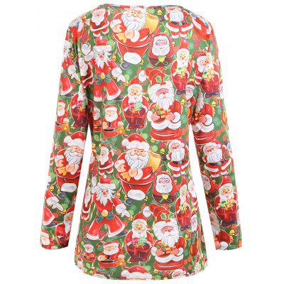 Christmas Santa Claus Plus Size T-shirtPlus Size Tops<br>Christmas Santa Claus Plus Size T-shirt<br><br>Collar: Round Neck<br>Material: Polyester<br>Package Contents: 1 x T-shirt<br>Pattern Type: Print<br>Season: Winter<br>Shirt Length: Long<br>Sleeve Length: Full<br>Style: Fashion<br>Weight: 0.2150kg