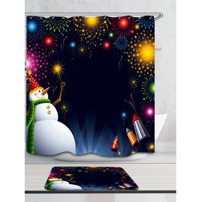 Christmas Snowman Fireworks Pattern Bath CurtainShower Curtain<br>Christmas Snowman Fireworks Pattern Bath Curtain<br><br>Materials: Polyester<br>Number of Hook Holes: W59 inch * L71 inch:10, W71 inch * L71 inch:12, W71 inch * L79 inch:12<br>Package Contents: 1 x Shower Curtain 1 x Hooks (Set)<br>Pattern: Snowman<br>Products Type: Shower Curtains<br>Style: Festival