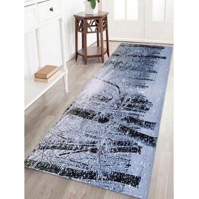 Buy COLORMIX Christmas Snow Forest Printed Skidproof Coral Fleece Bath Rug for $13.99 in GearBest store