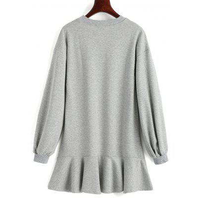 Drop Waist Longline SweatshirtSweatshirts &amp; Hoodies<br>Drop Waist Longline Sweatshirt<br><br>Clothing Style: Sweatshirt<br>Material: Polyester<br>Neckline: Crew Neck<br>Package Contents: 1 x Sweatshirt<br>Pattern Style: Solid<br>Shirt Length: Long<br>Sleeve Length: Full<br>Weight: 0.4600kg