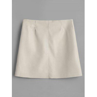 Faux Leather Pocket Zipper SkirtSkirts<br>Faux Leather Pocket Zipper Skirt<br><br>Embellishment: Front Pocket<br>Length: Mini<br>Material: PU Leather<br>Package Contents: 1 x Skirt<br>Pattern Type: Solid<br>Silhouette: A-Line<br>Weight: 0.3100kg<br>With Belt: No