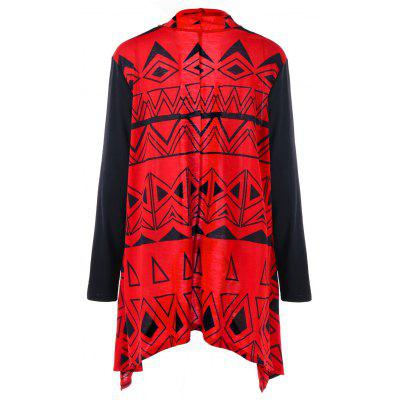 Geometric Asymmetric Plus Size Color Block CardiganPlus Size<br>Geometric Asymmetric Plus Size Color Block Cardigan<br><br>Collar: Collarless<br>Material: Polyester<br>Package Contents: 1 x Cardigan<br>Pattern Type: Geometric<br>Season: Winter, Spring, Fall<br>Sleeve Length: Full<br>Style: Fashion<br>Type: Cardigans<br>Weight: 0.3790kg