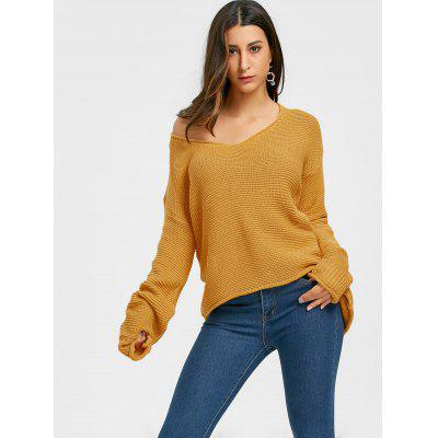 Oversized V Neck Tunic Chunky SweaterSweaters &amp; Cardigans<br>Oversized V Neck Tunic Chunky Sweater<br><br>Collar: V-Neck<br>Material: Polyester, Spandex<br>Package Contents: 1 x Sweater<br>Pattern Type: Solid<br>Season: Spring, Fall<br>Sleeve Length: Full<br>Style: Fashion<br>Type: Pullovers<br>Weight: 0.6500kg