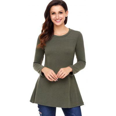 Long Sleeve Tunic Top with ButtonsBlouses<br>Long Sleeve Tunic Top with Buttons<br><br>Collar: Round Neck<br>Embellishment: Button<br>Material: Polyester, Spandex<br>Package Contents: 1 x Top<br>Pattern Type: Solid Color<br>Season: Fall, Spring<br>Shirt Length: Regular<br>Sleeve Length: Full<br>Style: Casual<br>Weight: 0.3500kg