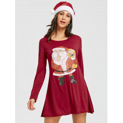 Long Sleeve Santa Claus Print Mini DressWomens Dresses<br>Long Sleeve Santa Claus Print Mini Dress<br><br>Dresses Length: Mini<br>Material: Cotton, Polyester<br>Neckline: Round Collar<br>Package Contents: 1 x Dress<br>Pattern Type: Print<br>Season: Spring, Fall<br>Silhouette: Straight<br>Sleeve Length: Long Sleeves<br>Style: Brief<br>Weight: 0.3500kg<br>With Belt: No