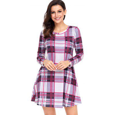 A-line Plaid Long Sleeve DressWomens Dresses<br>A-line Plaid Long Sleeve Dress<br><br>Dresses Length: Mini<br>Material: Polyester, Spandex<br>Neckline: Round Collar<br>Occasion: Casual<br>Package Contents: 1 x Dress<br>Pattern Type: Plaid<br>Season: Fall, Spring<br>Silhouette: A-Line<br>Sleeve Length: Long Sleeves<br>Style: Casual<br>Weight: 0.4500kg<br>With Belt: No