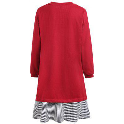 Plus Size Long Sleeve Ribbed Plaid Panel Tunic TopPlus Size Tops<br>Plus Size Long Sleeve Ribbed Plaid Panel Tunic Top<br><br>Collar: Scoop Neck<br>Embellishment: Bowknot<br>Material: Cotton Blends, Polyester<br>Package Contents: 1 x Top<br>Pattern Type: Plaid<br>Season: Winter, Fall<br>Shirt Length: Long<br>Sleeve Length: Full<br>Style: Fashion<br>Weight: 0.4300kg