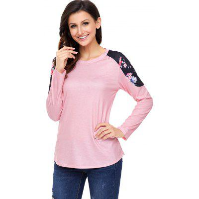 Long Sleeve Floral Panel TeeBlouses<br>Long Sleeve Floral Panel Tee<br><br>Collar: Round Neck<br>Material: Polyester, Spandex<br>Package Contents: 1 x Tee<br>Pattern Type: Floral<br>Season: Fall, Spring<br>Shirt Length: Regular<br>Sleeve Length: Full<br>Style: Casual<br>Weight: 0.3100kg