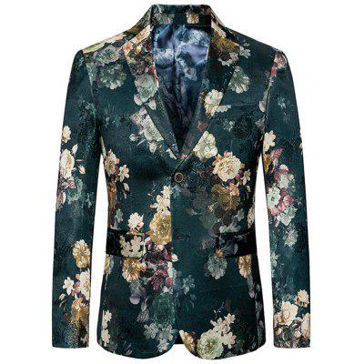 Single Breasted Casual Floral Blazer