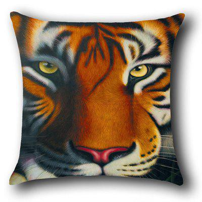 Tiger Printed Decorative Pillow CasePillow<br>Tiger Printed Decorative Pillow Case<br><br>Material: Linen<br>Package Contents: 1 x Pillow Case<br>Pattern: Animal<br>Shape: Square<br>Style: Casual<br>Weight: 0.0700kg