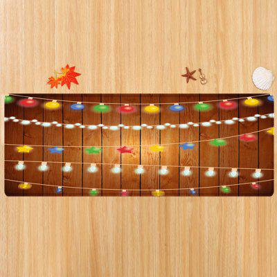 Christmas String Lights Pattern Water Absorption Area RugCarpets &amp; Rugs<br>Christmas String Lights Pattern Water Absorption Area Rug<br><br>Materials: Flannel<br>Package Contents: 1 x Rug<br>Pattern: Ball,Star<br>Products Type: Bath rugs<br>Shape: Rectangle<br>Style: Festival