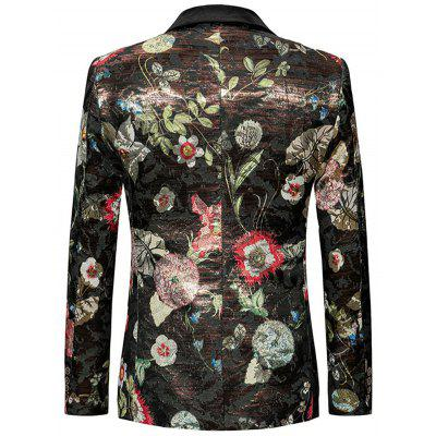 Floral Pattern Single Breasted BlazerMens Blazers<br>Floral Pattern Single Breasted Blazer<br><br>Closure Type: Single Breasted<br>Material: Polyester<br>Package Contents: 1 x Blazer<br>Shirt Length: Regular<br>Sleeve Length: Long Sleeves<br>Weight: 0.5700kg