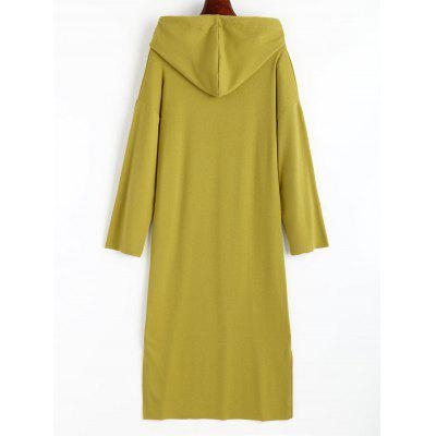 Slit Drawstring Hoodie DressWomens Dresses<br>Slit Drawstring Hoodie Dress<br><br>Dresses Length: Mid-Calf<br>Material: Polyester<br>Neckline: Hooded<br>Occasion: Causal<br>Package Contents: 1 x Dress<br>Pattern Type: Solid Color<br>Season: Spring, Fall<br>Silhouette: Straight<br>Sleeve Length: Long Sleeves<br>Style: Casual<br>Weight: 0.5100kg<br>With Belt: No