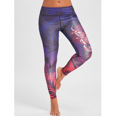 Leaves Printed Elastic Waist LeggingsPants<br>Leaves Printed Elastic Waist Leggings<br><br>Elasticity: Elastic<br>Material: Polyester, Spandex<br>Package Contents: 1 x Leggings<br>Pattern Type: Print<br>Style: Fashion<br>Waist Type: Mid<br>Weight: 0.2000kg