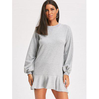 Flounce Mini Sweatshirt DressWomens Dresses<br>Flounce Mini Sweatshirt Dress<br><br>Dresses Length: Mini<br>Material: Polyester<br>Neckline: Crew Neck<br>Package Contents: 1 x Sweatshirt<br>Pattern Type: Solid<br>Season: Fall, Spring<br>Silhouette: Shift<br>Sleeve Length: Long Sleeves<br>Style: Casual<br>Weight: 0.4500kg<br>With Belt: No
