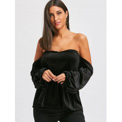 Off The Shoulder Bell Sleeve Velvet TopBlouses<br>Off The Shoulder Bell Sleeve Velvet Top<br><br>Collar: Off The Shoulder<br>Material: Polyester<br>Package Contents: 1 x Top<br>Pattern Type: Solid Color<br>Season: Fall, Spring<br>Shirt Length: Regular<br>Sleeve Length: Full<br>Style: Fashion<br>Weight: 0.4000kg