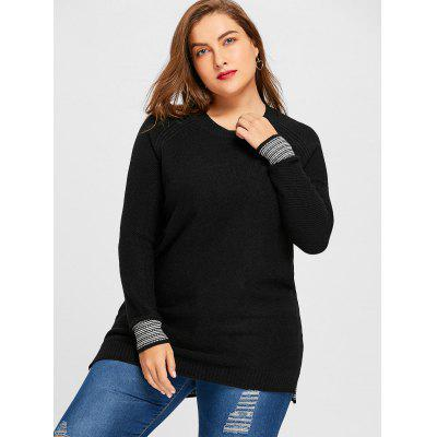 Plus Size Striped Raglan Sleeve SweaterPlus Size<br>Plus Size Striped Raglan Sleeve Sweater<br><br>Collar: Crew Neck<br>Material: Acrylic<br>Package Contents: 1 x Sweater<br>Pattern Type: Striped<br>Season: Winter, Spring, Fall<br>Sleeve Length: Full<br>Style: Casual<br>Type: Pullovers<br>Weight: 0.6450kg