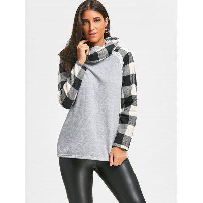 Cowl Neck Plaid Insert Raglan Sleeve TopBlouses<br>Cowl Neck Plaid Insert Raglan Sleeve Top<br><br>Collar: Cowl Neck<br>Embellishment: Lace<br>Material: Cotton, Polyester<br>Package Contents: 1 x Top<br>Pattern Type: Plaid<br>Season: Fall, Spring<br>Shirt Length: Long<br>Sleeve Length: Full<br>Sleeve Type: Raglan Sleeve<br>Style: Casual<br>Weight: 0.4300kg