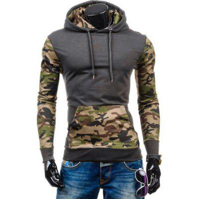 Hooded Camouflage Panel Drawstring Fleece HoodieMens Hoodies &amp; Sweatshirts<br>Hooded Camouflage Panel Drawstring Fleece Hoodie<br><br>Clothes Type: Hoodie<br>Material: Cotton, Polyester<br>Occasion: Going Out, Daily Use, Casual<br>Package Contents: 1 x Hoodie<br>Patterns: Camouflage<br>Shirt Length: Regular<br>Sleeve Length: Full<br>Style: Fashion<br>Thickness: Regular<br>Weight: 0.4800kg
