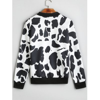 Zip Up Cow Pattern JacketJackets &amp; Coats<br>Zip Up Cow Pattern Jacket<br><br>Clothes Type: Jackets<br>Collar: Stand-Up Collar<br>Material: Polyester<br>Package Contents: 1 x Jacket<br>Pattern Type: Others<br>Shirt Length: Regular<br>Sleeve Length: Full<br>Style: Casual<br>Type: Wide-waisted<br>Weight: 0.3250kg