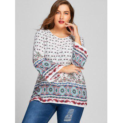 Plus Size Ethnic Floral Print Bell Sleeve BlousePlus Size Tops<br>Plus Size Ethnic Floral Print Bell Sleeve Blouse<br><br>Collar: Round Neck<br>Material: Polyester<br>Package Contents: 1 x Blouse<br>Pattern Type: Floral<br>Season: Spring, Fall<br>Shirt Length: Long<br>Sleeve Length: Full<br>Sleeve Type: Flare Sleeve<br>Style: Casual<br>Weight: 0.2000kg
