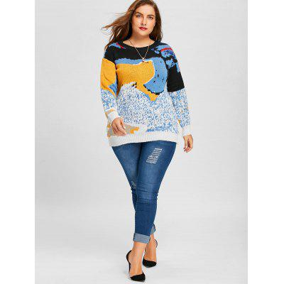 Print Plus Size SweaterPlus Size<br>Print Plus Size Sweater<br><br>Collar: Round Neck<br>Material: Polyester, Spandex<br>Package Contents: 1 x Sweater<br>Pattern Type: Print<br>Season: Fall, Winter<br>Sleeve Length: Full<br>Style: Fashion<br>Type: Pullovers<br>Weight: 0.4700kg