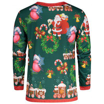 Santa Claus 3D Print Christmas TeeMens Long Sleeves Tees<br>Santa Claus 3D Print Christmas Tee<br><br>Collar: Round Neck<br>Material: Polyester<br>Package Contents: 1 x Tee<br>Pattern Type: 3D<br>Season: Fall, Winter<br>Sleeve Length: Full<br>Style: Casual<br>Weight: 0.2500kg