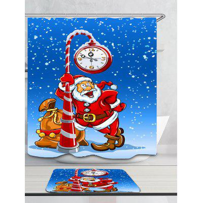 Snowy Santa Claus And Clock Pattern Bath CurtainShower Curtain<br>Snowy Santa Claus And Clock Pattern Bath Curtain<br><br>Materials: Polyester<br>Number of Hook Holes: W59 inch * L71 inch:10, W71 inch * L71 inch:12, W71 inch * L79 inch:12<br>Package Contents: 1 x Shower Curtain 1 x Hooks (Set)<br>Pattern: Snow,Snowflake,Snowman<br>Products Type: Shower Curtains<br>Style: Festival