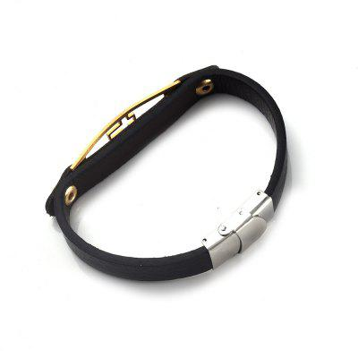 Faux Leather Stainless Steel Crucifix BraceletMens Jewelry<br>Faux Leather Stainless Steel Crucifix Bracelet<br><br>Chain Type: Leather Chain<br>Gender: For Men<br>Length: 21.3CM<br>Package Contents: 1 x Bracelet<br>Shape/Pattern: Cross<br>Style: Trendy<br>Weight: 0.0130kg