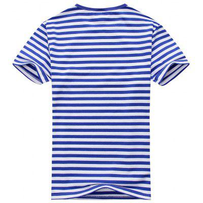 Men Striped Short Sleeve TeeMens Short Sleeve Tees<br>Men Striped Short Sleeve Tee<br><br>Collar: Round Neck<br>Material: Cotton Blends<br>Package Contents: 1 x Tee<br>Pattern Type: Striped<br>Sleeve Length: Short<br>Style: Casual<br>Weight: 0.2400kg