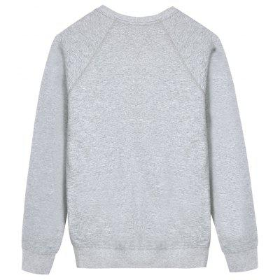 Raglan Sleeve Mens SweatshirtMens Hoodies &amp; Sweatshirts<br>Raglan Sleeve Mens Sweatshirt<br><br>Material: Cotton Blends<br>Package Contents: 1 x Sweatshirt<br>Pattern Type: Solid<br>Shirt Length: Regular<br>Sleeve Length: Full<br>Style: Casual<br>Weight: 0.4700kg