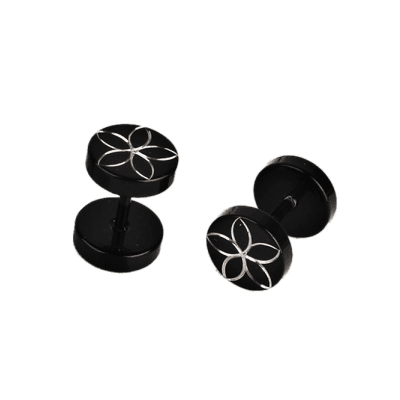Engraved Barbell Front Back Stud EarringsMens Jewelry<br>Engraved Barbell Front Back Stud Earrings<br><br>Gender: For Men<br>Length: 0.8CM<br>Package Contents: 1 x Earrings (Pair)<br>Shape/Pattern: Round<br>Style: Trendy<br>Weight: 0.0140kg