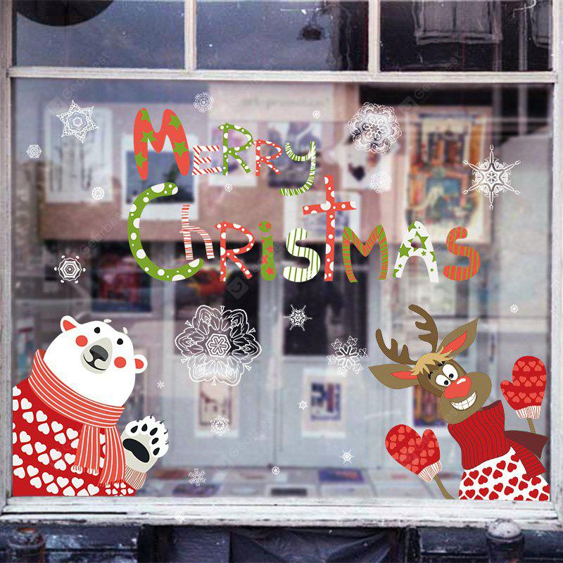 Christmas Animals Pattern Wall Art Stickers For Bedroom, COLORMIX, Home & Garden, Home Decors, Wall Art, Wall Stickers