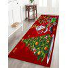 Christmas Tree Santa Baubles Pattern Water Absorption Area Rug - COLORMIX