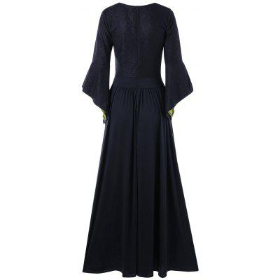 Flounced Flare Sleeve Maxi DressWomens Dresses<br>Flounced Flare Sleeve Maxi Dress<br><br>Dresses Length: Floor-Length<br>Material: Polyester, Spandex<br>Neckline: U Neck<br>Package Contents: 1 x Dress<br>Pattern Type: Solid<br>Season: Spring, Fall<br>Silhouette: A-Line<br>Sleeve Length: Long Sleeves<br>Style: Gothic<br>Weight: 0.7100kg<br>With Belt: No