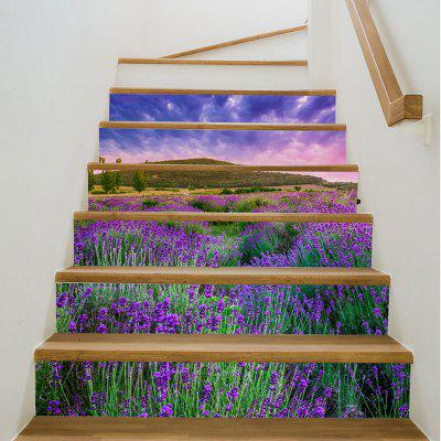 Buy 3D Lavender Printed Home Decor Stair Stickers, PURPLE, Home & Garden, Home Decors, Wall Art, Wall Stickers for $13.27 in GearBest store