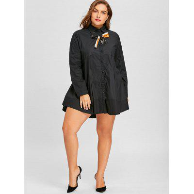 Bowknot Embellished Plus Size Long ShirtPlus Size Tops<br>Bowknot Embellished Plus Size Long Shirt<br><br>Collar: Shirt Collar<br>Material: Polyester, Spandex<br>Package Contents: 1 x Shirt<br>Pattern Type: Solid<br>Season: Fall, Spring<br>Shirt Length: Long<br>Sleeve Length: Full<br>Style: Fashion<br>Weight: 0.4200kg