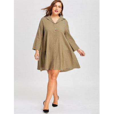 Plus Size Button Up Flounce ShirtPlus Size Tops<br>Plus Size Button Up Flounce Shirt<br><br>Collar: Shirt Collar<br>Material: Polyester, Spandex<br>Package Contents: 1 x Shirt<br>Pattern Type: Solid<br>Season: Fall, Spring<br>Shirt Length: Long<br>Sleeve Length: Full<br>Style: Fashion<br>Weight: 0.3700kg